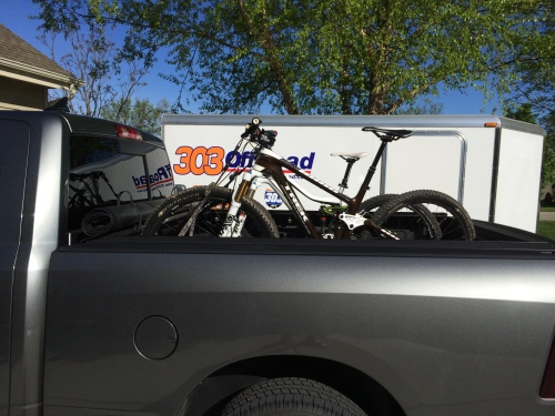 The steeds all loaded.  303 Offroad goes MTB XC racing.  Woot!