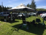 Camp all set up for the day.  Dogs do love MTB races.