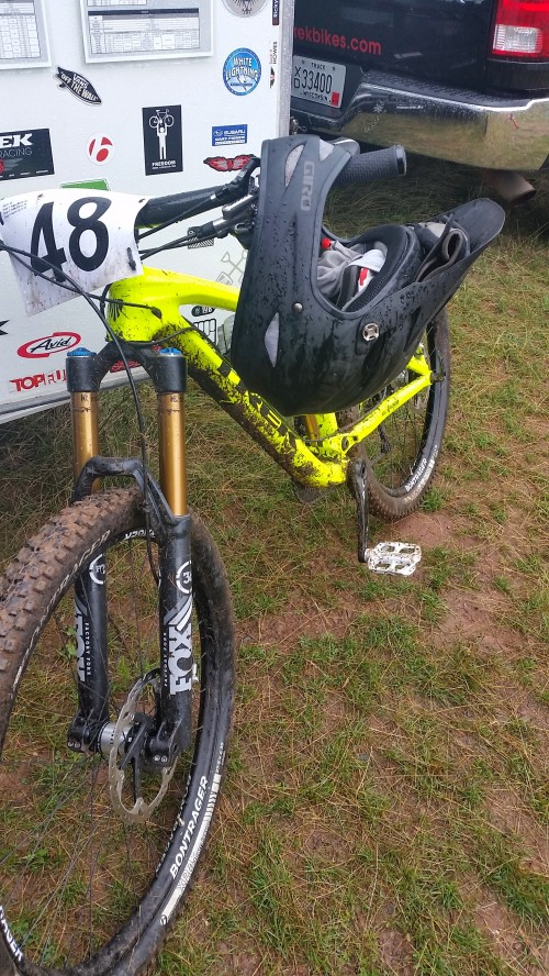My steed after the race.  I cannot grin enough about my new Slash.