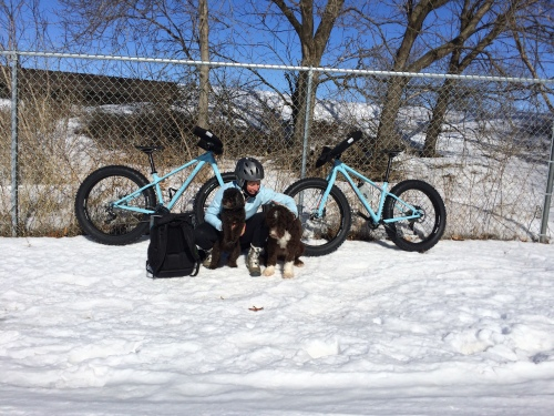 We got new snow bikes in January, and did a lot of that all winter.  Big fun, and it gets you through off season.