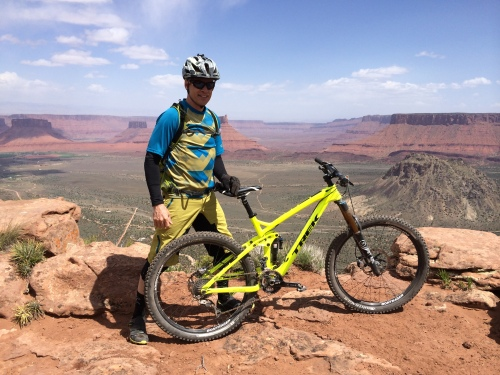 I did get a couple of great cycling events in during April.  I got back to Moab, as I had not been there for years.  I only got to ride the lower part of Enchilada, but damn.