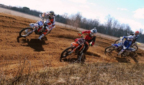 That is me going around Pete for the holeshot at Mountain.  I was really pumped to ride hard that day, as it was the 1st day I felt I could see what I was doing.