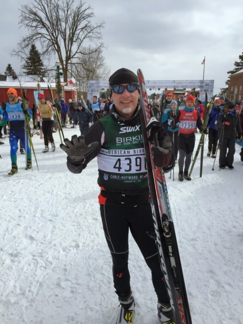 Me pretty dead after the Birkie ski race this year.
