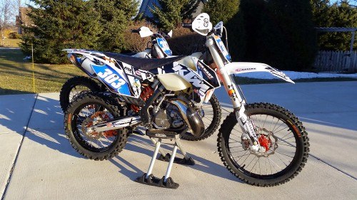 The little 200 will be my Enduro and tight condition bike.  Definitely not what I am taking to a GNCC race.