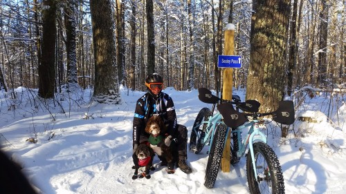 Early 2015 snow bike ride. Maybe even Jan 1. Looks cold, I think it was.