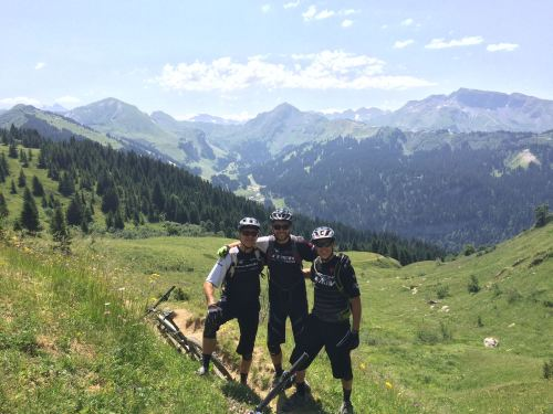 Some great times riding with Lloyd and Ben in the Alps in July. 77.6%
