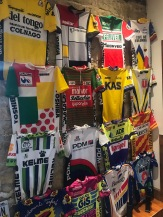 How many jerseys can you identify? How many can you name the marquee riders from the teams of that era?